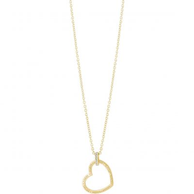 Ladies Guess Gold Plated Guess Frame Necklace UBN82060
