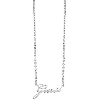 Ladies Guess Silver Plated Guess Signature Necklace UBN82056
