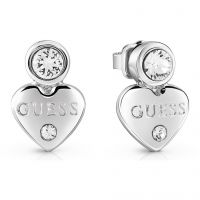 Ladies Guess Guessy Silver Earrings