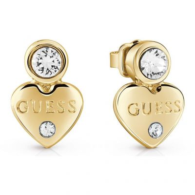 Ladies Guess Gold Plated Guessy Earrings UBE82002
